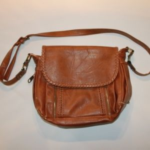 Steve Madden Brown Leather Messenger Bag